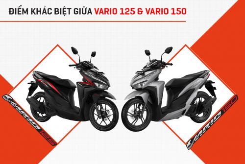 Điểm khác nhau giữa Vario 125 và Vario 150 phiên bản 2021